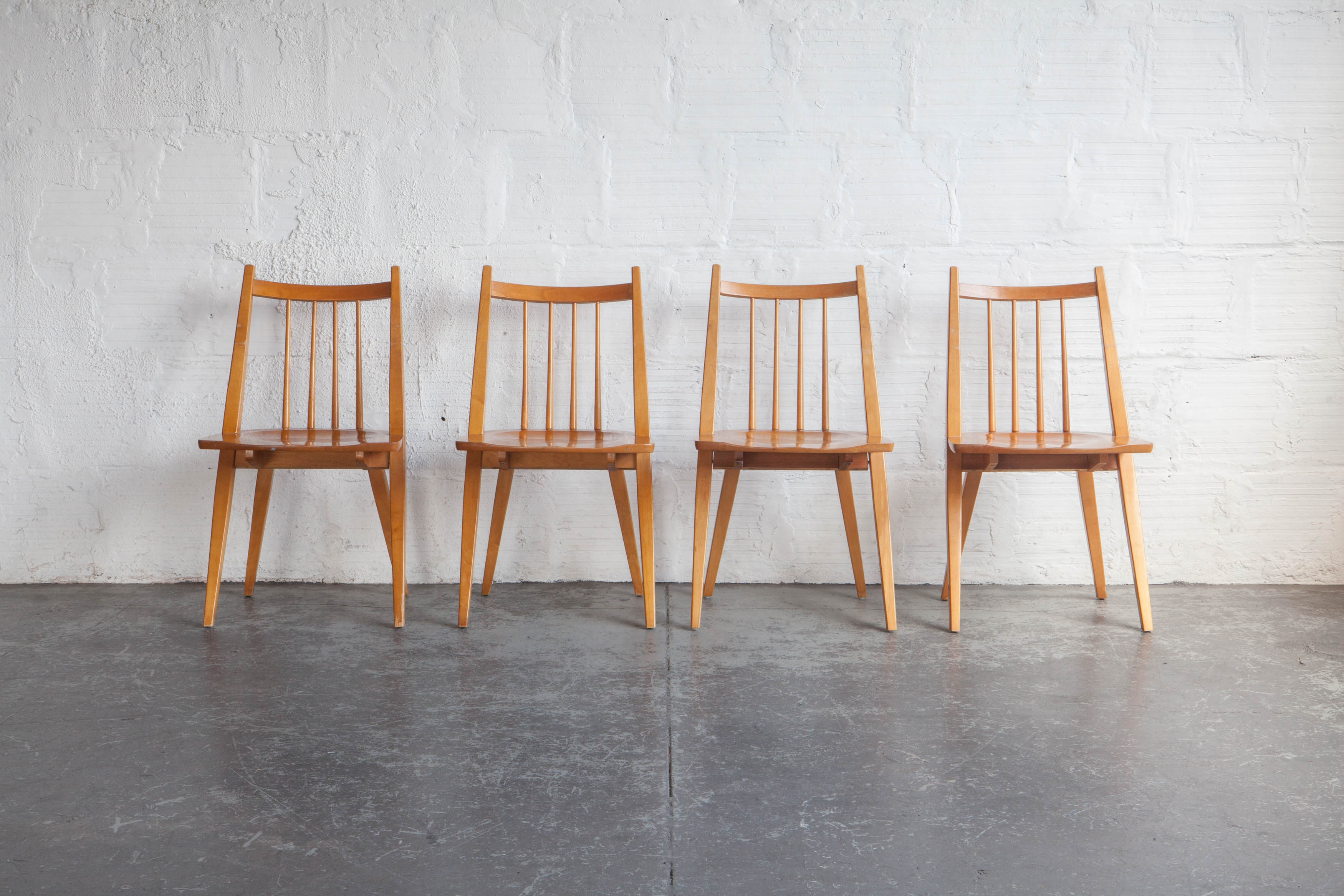 Delightful Maple Dining Chairs (set Of Four)