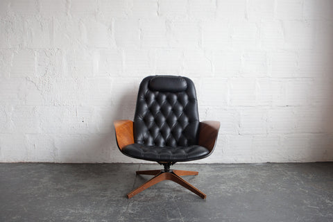 Mr. Chair & Ottoman by George Mulhauser for Plycraft