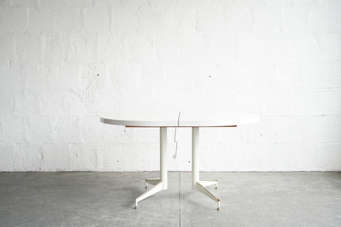 MCM White Dining Table with Leaf