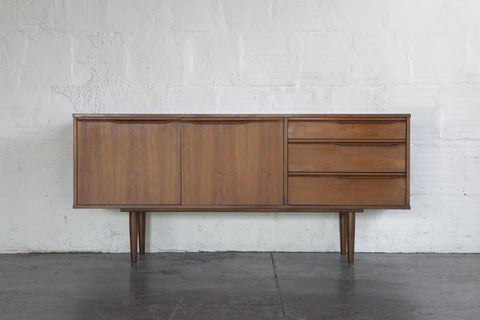 Teak and Walnut Credenza