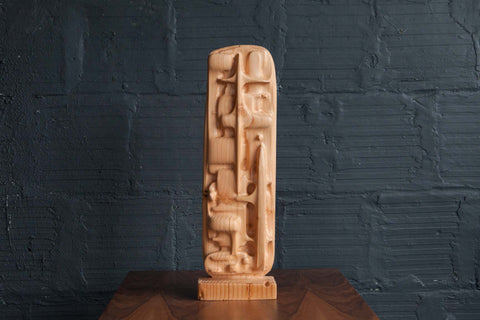 SSS WOOD TOTEM SCULPTURE