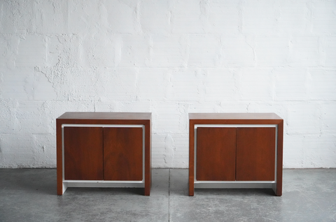 Teak Side Tables (Set of Two)
