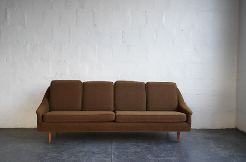 Vintage Sofa with Green Upholstery