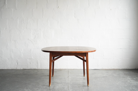 Danish Teak Dining Table with Three Leafs