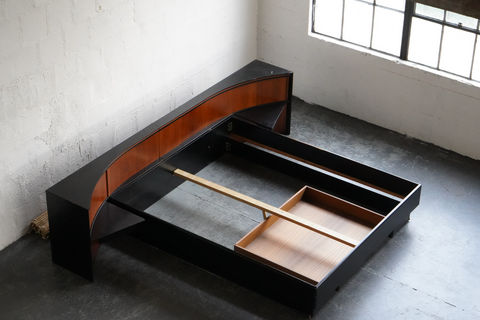 Danish Teak King Sized Bed Frame with Storage