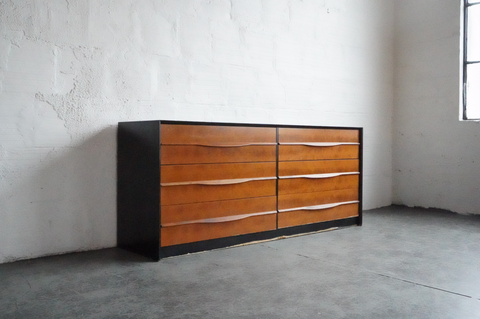 Danish Teak Six Drawer Dresser