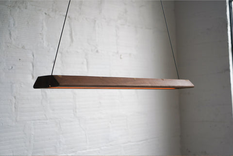 Walnut Hanging Light