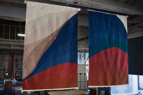 Swedish Hand-Woven Tapestries (2 Avail.)