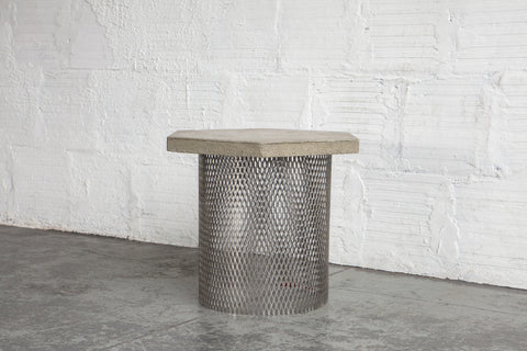 Concrete & Wire Concept Side Table Prototype