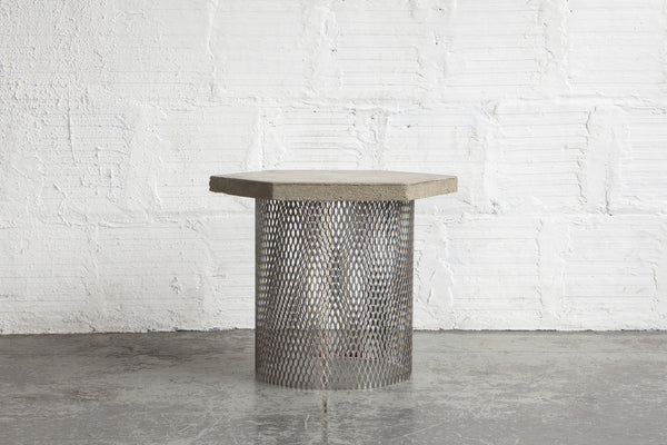 Concrete Amp Wire Concept Side Table Prototype The Good Mod