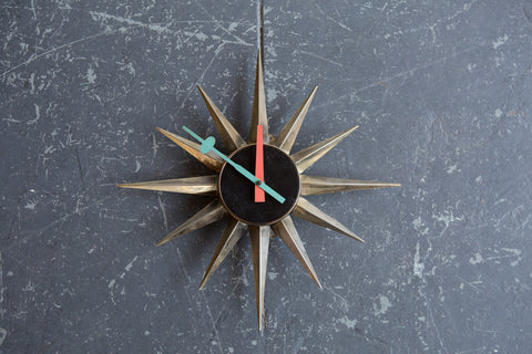 George Nelson Sunburst Clock #2202