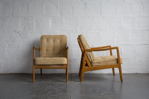 Ole Wanscher Danish Lounge Chairs (Set of 2)