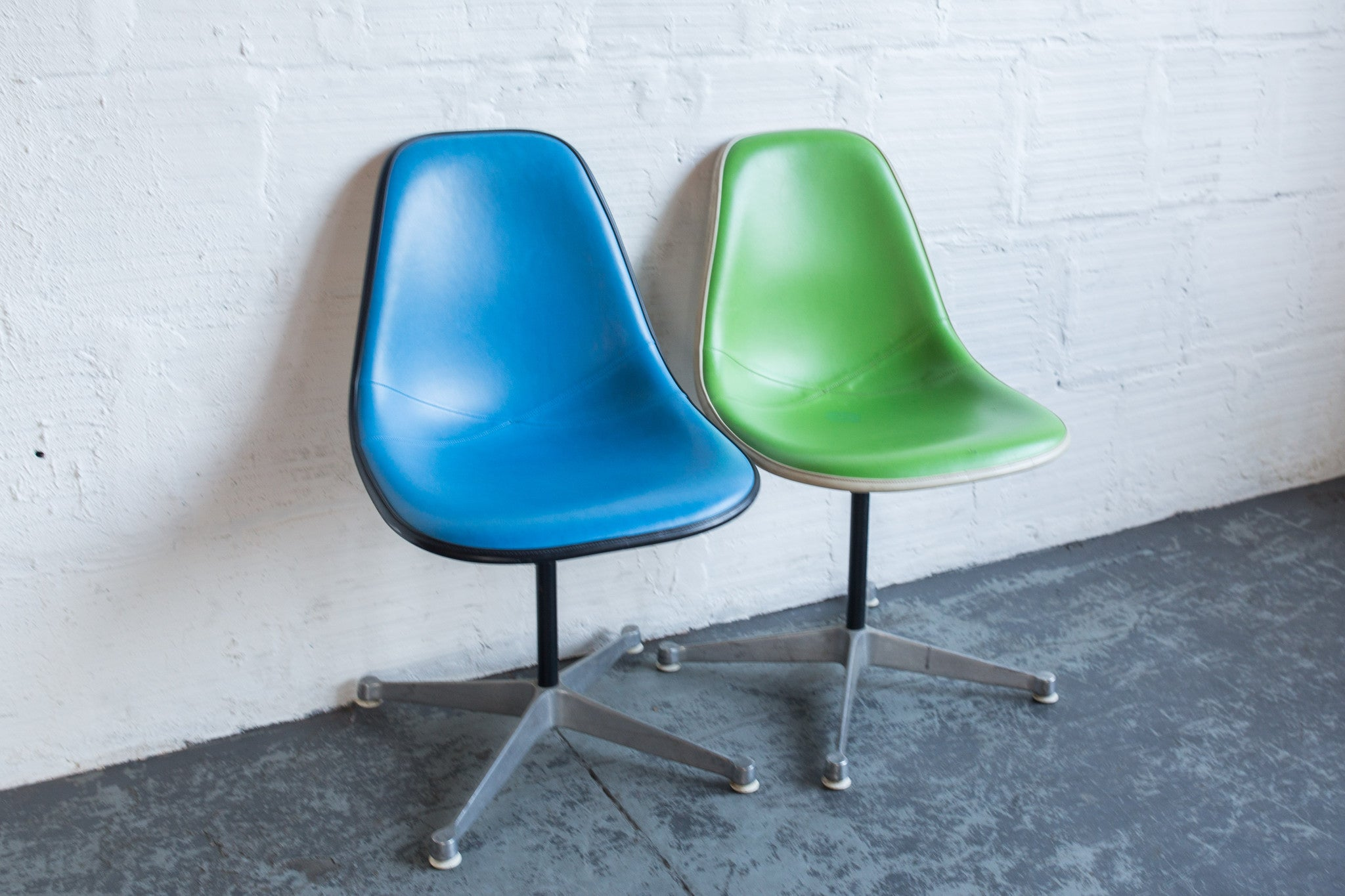 Vintage Eames Upholstered Side Chairs – The Good Mod