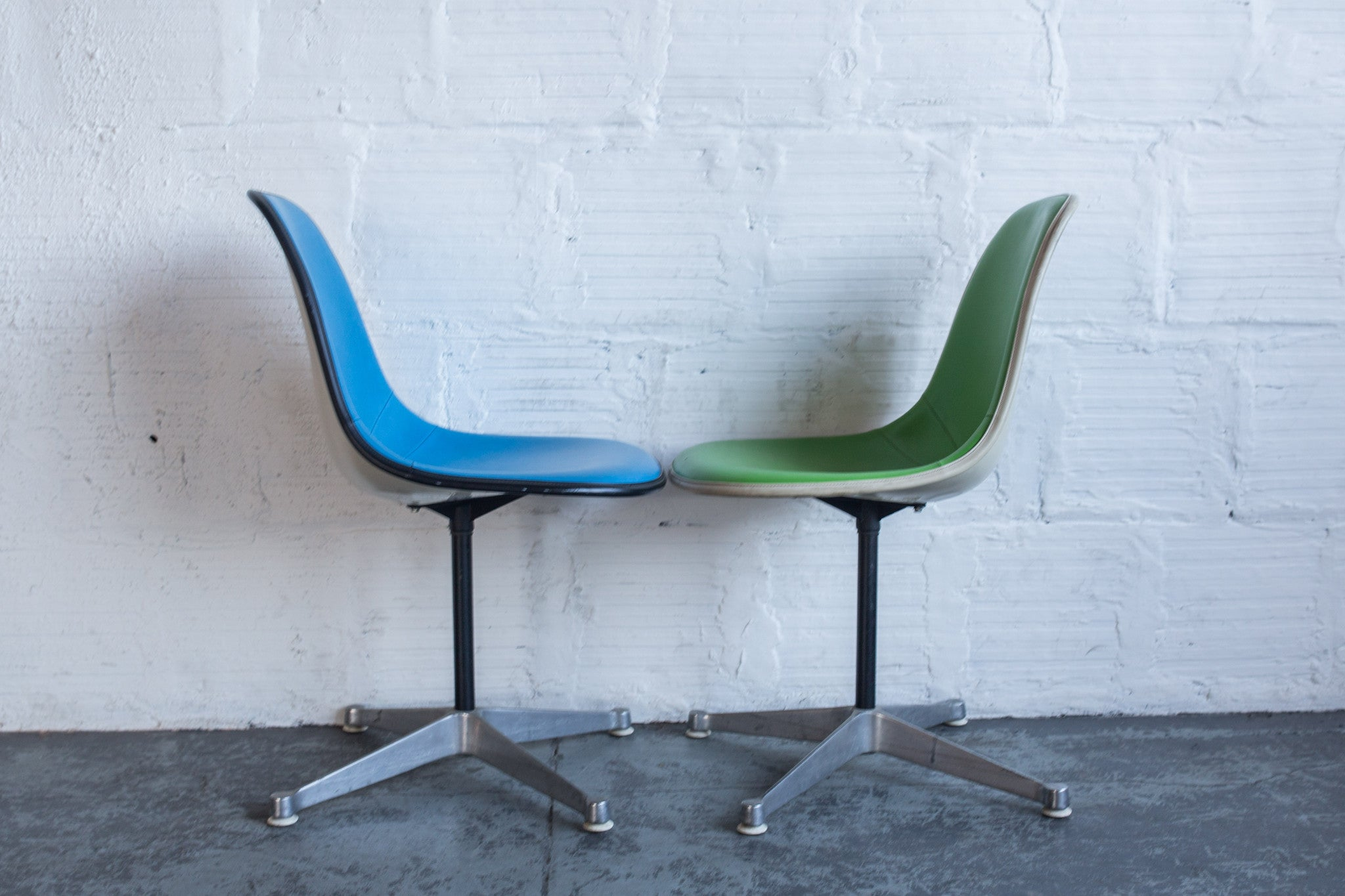 Vintage eames chair - Vintage Eames Upholstered Side Chairs