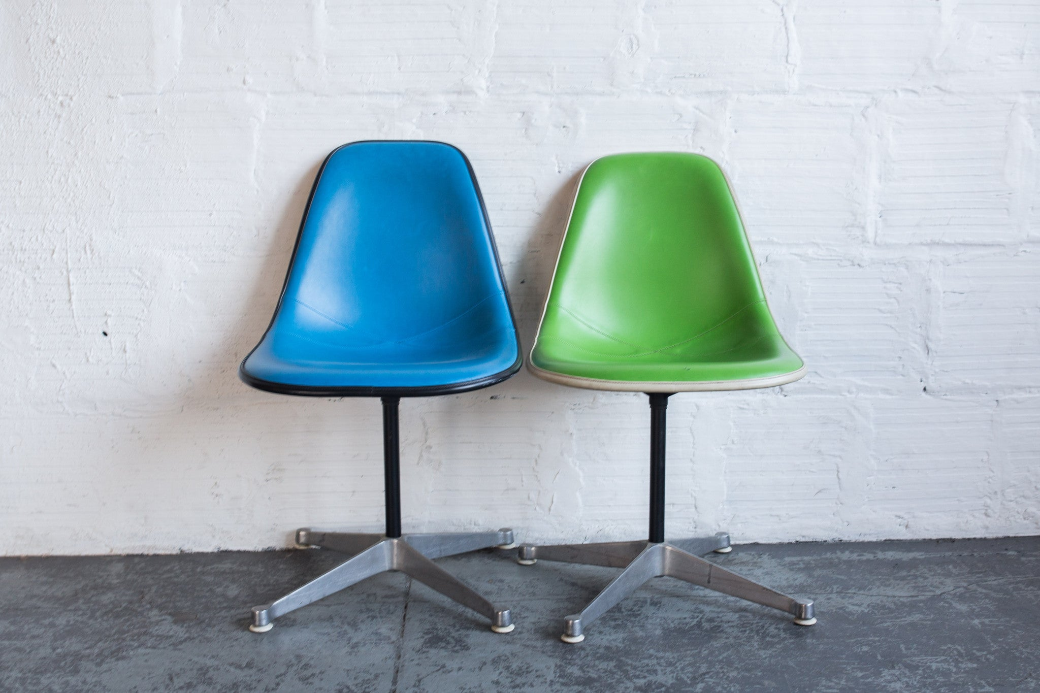 Vintage Eames Upholstered Side Chairs
