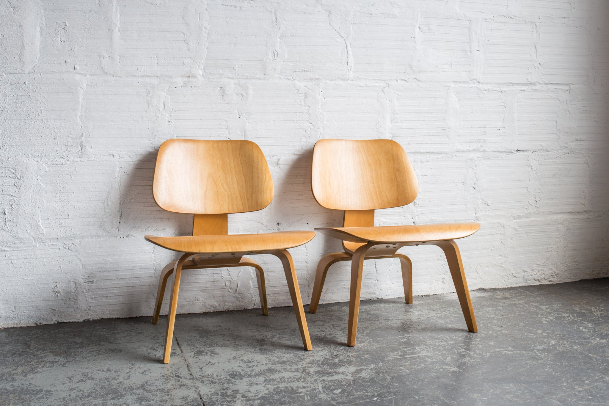 Eames Molded Plywood Lounge Chair with Wood Base - Herman Miller