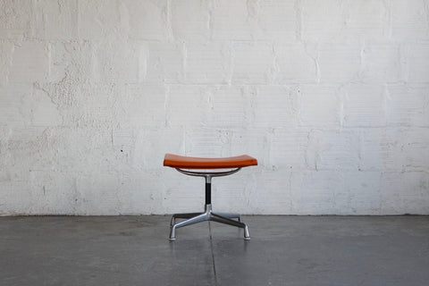 Orange Eames Aluminum Group Ottoman
