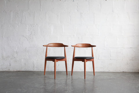 "Hans Wegner for Fritz Hansen ""Heart Chairs"""