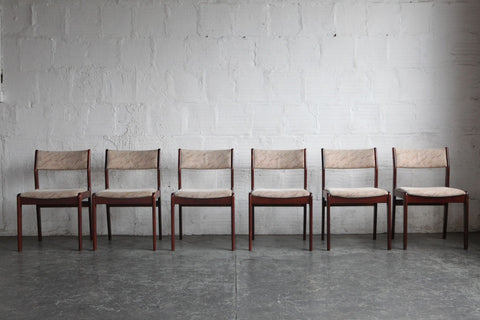 Rosewood Danish Modern Dining Chairs (Set of Six)
