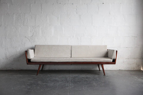 Mel Smilow Walnut Gondola Sofa