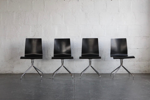 Mid-Century Modern Ebonized Bentwood Chairs