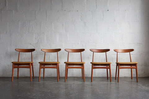 Japanese Modern Oak Dining Chairs