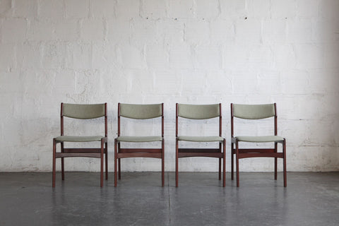 Danish Dining Chairs in the Style of Kai Kristiansen (Set of Four)