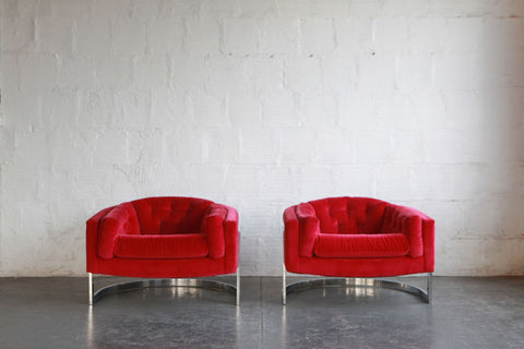 Milo Baughman Club Chairs