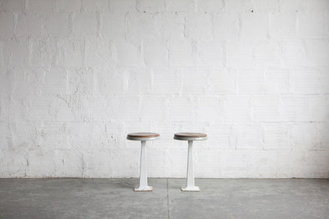 White Industrial Stools