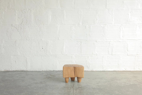 Vince Skelly Sculptural Oak Stool
