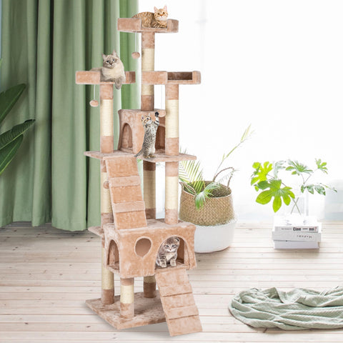 "66"" Sisal Hemp Cat Tree Tower Condo"