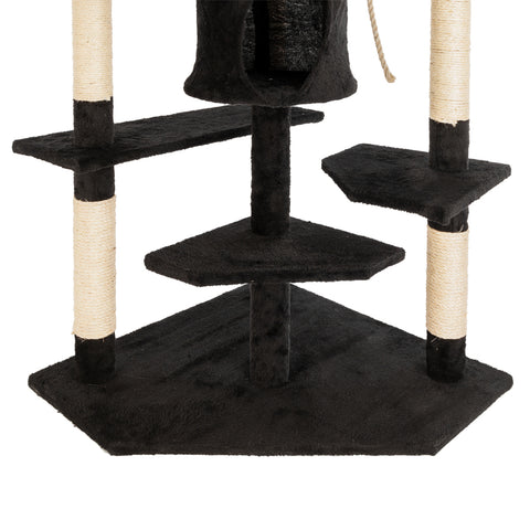 "Image of 80"" Solid Cute Sisal Cat Climb Tree Condo"