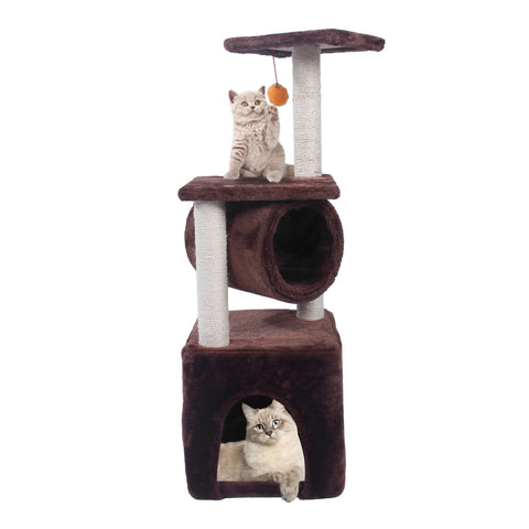 "Image of 36"" Sisal Hemp Cat Tree Brown Condo"