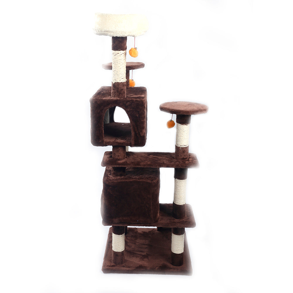 "52"" Sisal Hemp Cat Tree Brown Condo"