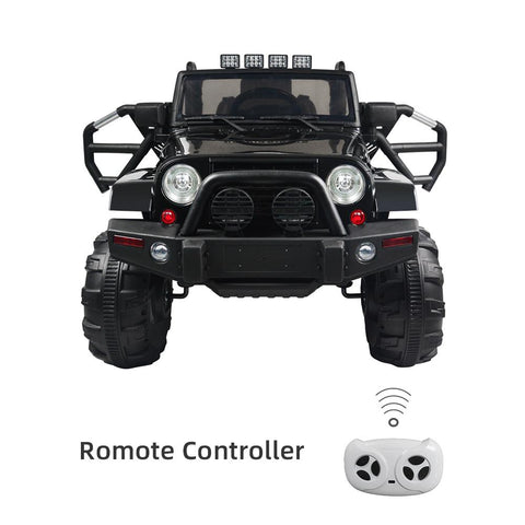 12V Kids Ride On Truck Car w/ Remote Control, 3 Speeds, Spring Suspension, LED Lights, AUX