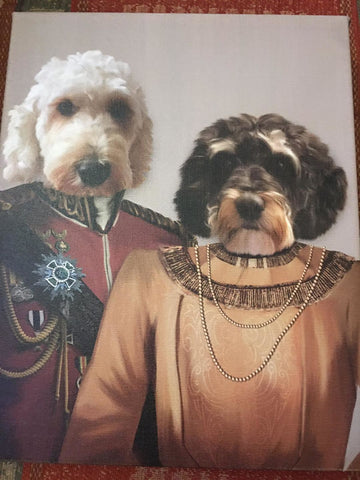 The Lord and The Lady - Custom Pet Canvas - TOYSHIP