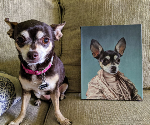 Image of The Queen Regent - Custom Pet Canvas - TOYSHIP