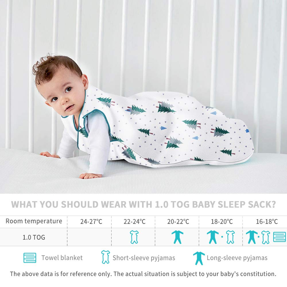 Sleep Sack Wearable Blanket Baby Sleeping Bag of Cotton