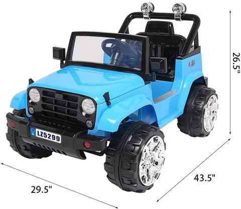 12V Kids Ride On Truck Car w/ Parent Remote Control