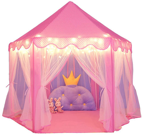 Image of Princess Play Tent (Indoor / Outdoor Play tent) (Pink)