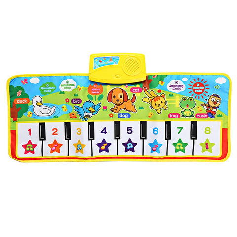Baby Animal Sound and Music Floor Mat Musical Entertainment Center | Baby and Toddler Floor Piano Packaged in Colored Box | Great Baby Gift Idea