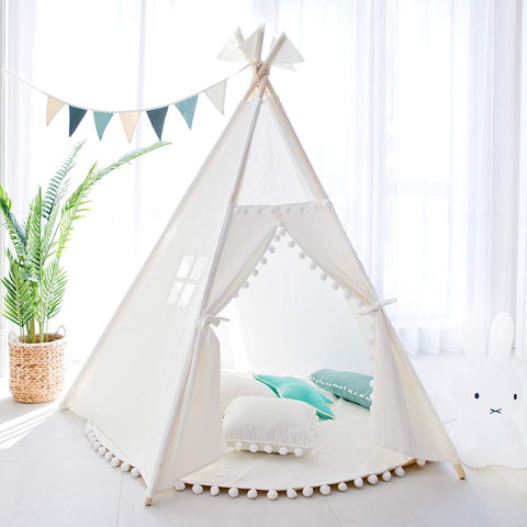 Image of Teepee Tent for Kids - White