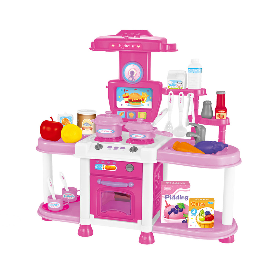 Children s Playhouse Kitchen Toy Set Sound And Light Sound Effects Girls Cook And Cook Utensils