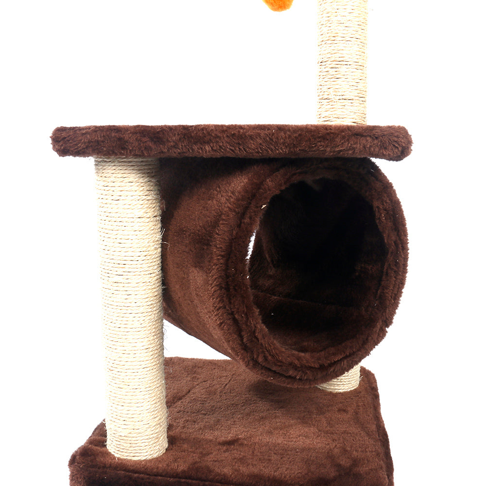 "36"" Sisal Hemp Cat Tree Brown Condo"