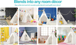 Teepee Tent for Kids - White