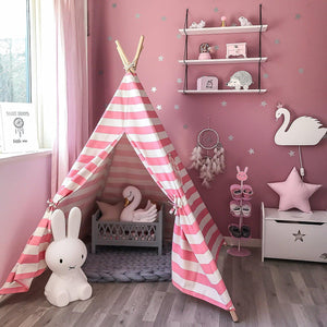 Teepee Tents for Kids - Pink Stripes