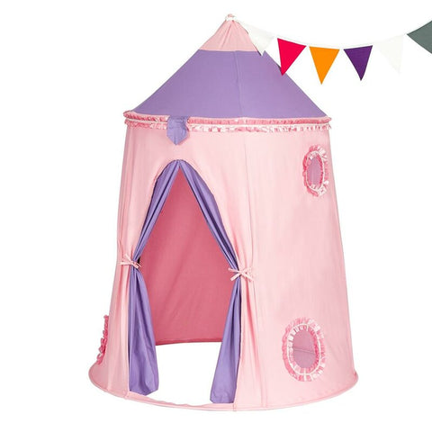 Kids Princess Castle 5' x 4' Indoor/Outdoor Play Tent with Carrying Bag