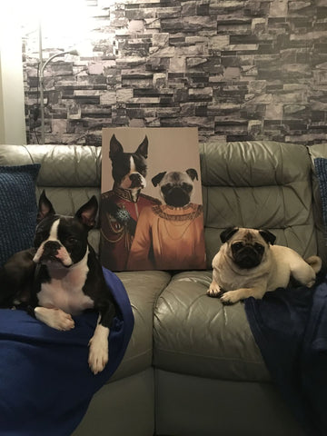 Image of The Lord and The Lady - Custom Pet Canvas - TOYSHIP