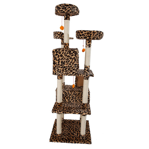 "72"" Stable Cute Sisal Cat Climb Tower Condo"