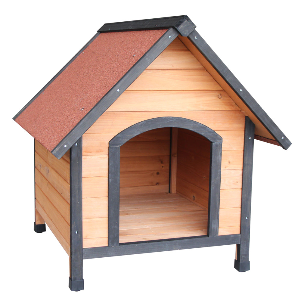 Wooden Dog House Outdoor Shelter